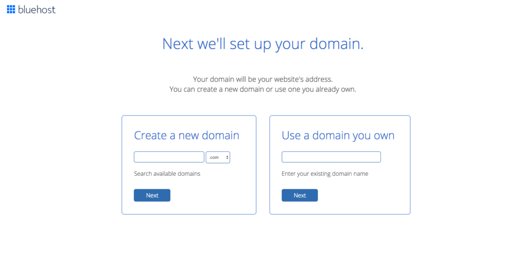 Set up your WordPress  blog domain name on Bluehost